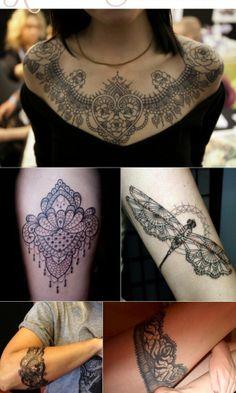 Tatouages ornement dentelle