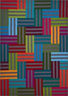 Union Station quilt (see the book Colorful Quilts for Fabric Lovers: 10 Easy-To-Make Projects with a Modern Edge from Blue Underground Studios)
