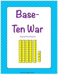 A twist on the classic War game, using place value (base-ten) blocks.
