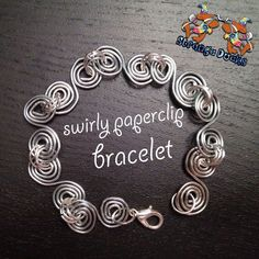 Instruction for Swirly Paperclip Bracelet- cute and inexpensive craft but will take some time to twirl all those paperclips.