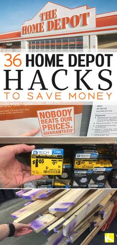 Check out these Home Depot Hacks that'll save you ALL the money. In fact, don't start your next project until you read this!