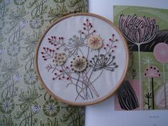 seed heads embroidery