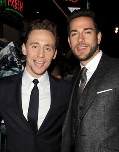Tom Hiddleston and Zachary Levi. Please excuse me while I go have a heart attack.