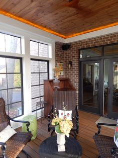 Three Seasons Room With Deck Above Interiors Screened Porch Designs In