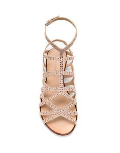 Zara   FLAT SANDALS WITH SHINY DETAILS