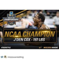 In case you missed it with all the March Madness going down J'Den Cox won his 2nd National Championship on Saturday! Your #MIZZOU family is proud of you and all the other #TigerStyle members for an incredible year. #mizzoumade #everytrueson --- Repost @mizzouwrestling by every_true_son http://ift.tt/1pFxwNB - http://ift.tt/1HQJd81