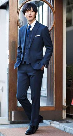 40 Fresh and Cool Outfit Ideas for Handsome Men Handsome Men In Suits, Mens Suits, Handsome Boys, Wedding Men, Wedding Suits, Wedding Hair, Wedding Dress, Japanese Suit, Suit Fashion