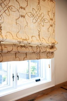 Custom Roman Shade Window Treatment