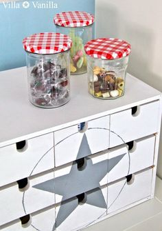 Villa ✪ Vanilla: Kinderzimmer Villa Vanilla, Ikea Storage Boxes, Deco Kids, Sweet Home, Ikea Hack, Nursery Room, Room Inspiration, Diy Projects To Try, Painted Furniture