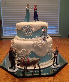 "Beautiful ""Frozen"" cake!  So awesome and delcious!  We love ""Frozen""!!!"