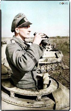 """Panzeroffizier - Sturmgeschütz Battalion, """"Großdeutschland"""" Div. - In the area of Kryvyi Rih, Southern Ukraine - Jan.'44"""