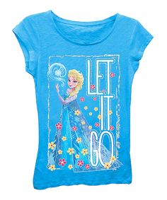 Look at this Turquoise Frozen 'Let it Go' Tee - Girls on #zulily today!