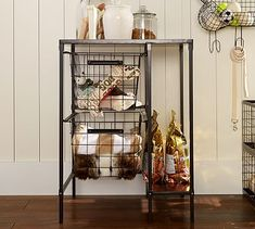 A better way to organize all of Lou's stuff?  Kellan Pet All-In-One Cart #potterybarn