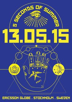 13th May, 2015  Ericsson Globe, Stockholm, Sweden  Rowyso Tour Poster