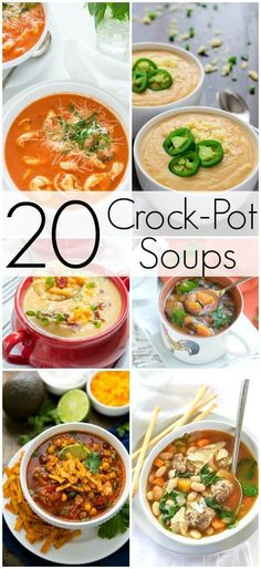 I have a Huge List of Crockpot Soup Recipes to share with you today. One of the things I get so excited about during the Fall and Winter months is putting my Slow Cooker to good use! I have several Crockpot Recipes I make all year long, but there's nothing like a Good Soup or Stew in the Crockpot on a chilly day! It's just perfection + I love how easy it makes my life!