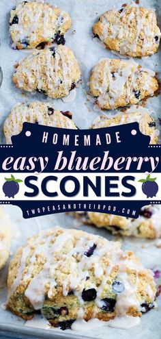 Blueberry Scones are moist and tender sweet treats drizzled with a sweet streusel topping and vanilla glaze. This holiday baking recipe is best served on Christmas brunch! Save this pin. Perfect Scones Recipe, Blueberry Scones, Streusel Topping, Delicious Breakfast Recipes, Christmas Brunch, Holiday Baking, Sweet Treats, Vanilla Glaze, Tasty