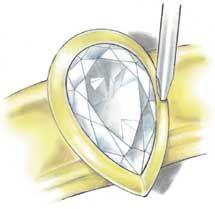 Professional Jeweler Archive: Bezel-Setting Fancies Using New Technology