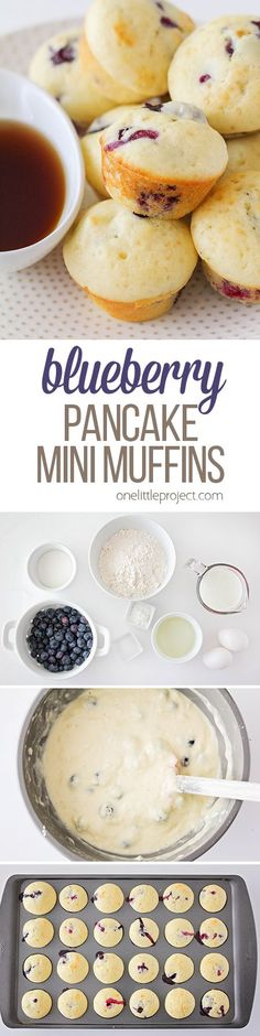 These blueberry pancake mini muffins are a fun twist on a breakfast favorite. They're quick and easy to make, and sure to be a favorite with the kids!