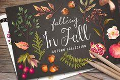 Hand drawn autumn collection+Bonus by Graphic Box on Creative Market