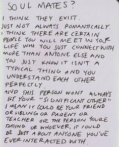 Very true #soulmates