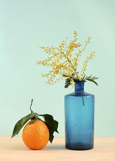 """Liking these colours as a combo. celinesaby: Affiche """"Orange et Mimosa en vente sur ma boutique en ligne http://celinesaby.bigcartel.com et à l'atelier Beau Travail"""