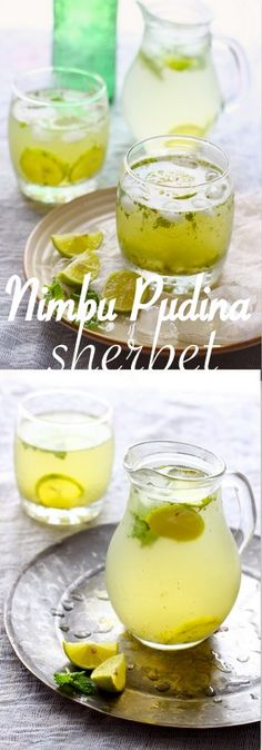 Nimbu Pudina Sherbet - our new favorite summer drink. It is incredibly refreshing and super easy to prepare. funfoodfrolic.com