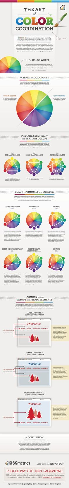 Design Tip: Color coordination is an important part of many design projects. Web Design being one of them! Check out this helpful Infographic to learn more!Web Design Tip: Color coordination is an important part of many design projects. Web Design being Graphisches Design, Graphic Design, Design Color, Cover Design, Interior Design, Design Layouts, Email Design, Blog Design, Design Elements