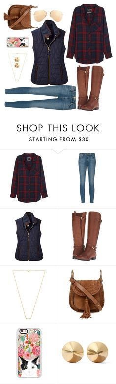 """""""Fall Fav."""" by kmwellman ❤ liked on Polyvore featuring Rails, Frame Denim, Joules, Naturalizer, Wanderlust + Co, Chloé, Casetify, Eddie Borgo and Ray-Ban"""