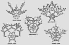 3 Crochet Snowflakes Christmas Decor Ornaments by CarolBeckDesigns – Snowflakes World Crochet Snowflake Pattern, Crochet Stars, Crochet Motifs, Crochet Snowflakes, Crochet Diagram, Crochet Flowers, Crochet Stitches, Crochet Patterns, Crochet Christmas Ornaments