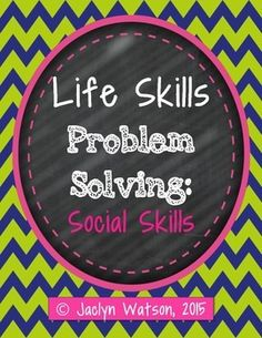 Use with at-risk Life Skills Lessons, Teaching Social Skills, Social Emotional Learning, Critical Thinking Activities, Social Skills Activities, Speech Therapy Activities, Speech Language Therapy, Speech And Language, Organization Skills