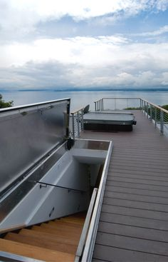 Roof deck with 360 degree views of Olympics and Cascades, Magnolia, Seattle