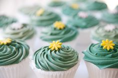 Turquoise Frosted Cupcakes from Bakes and Goods Toronto at 2523 Yonge Street