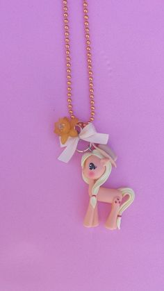 Applejack polymer clay necklace fimo by Artmary2 on Etsy, €12.00