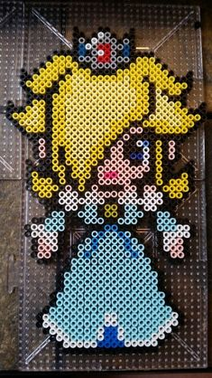 Princess Rosalina - Mario perler beads by Kate Schultz