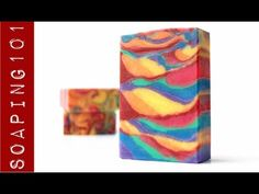 Rainbow Mica in Cold Process Soap S2W28 - YouTube