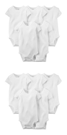 Carter's Baby Boys' 5 Pack Bodysuits (Baby) - White 6M