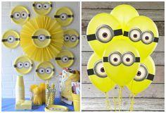 Decoración e ideas para una fiesta de Minions   Manualidades