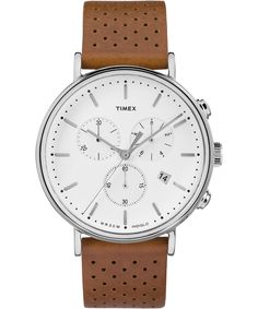 We challenged ourselves to create a multifunction chronograph watch with minimalist Bauhaus influences. We think you'll love our tastefully simple solution, right down to the perforated leather band. Timex