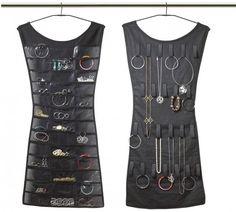 Black Dress Hanging Jewelry Organizer