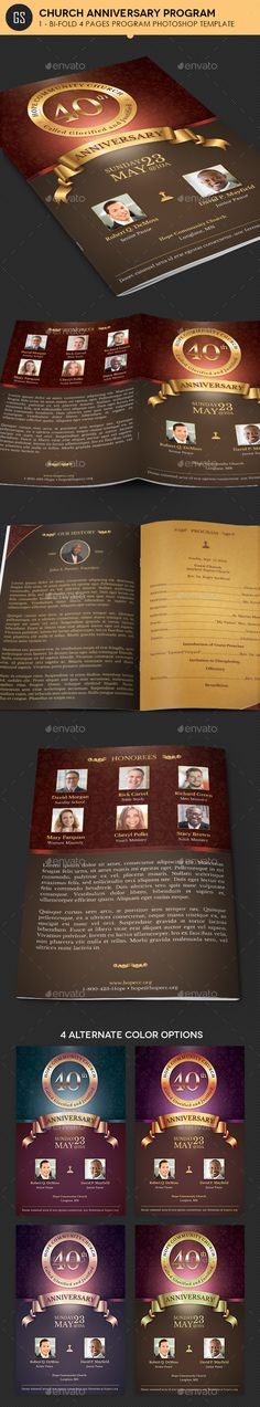 Church Anniversary Program Template - Informational Brochures Download here : http://graphicriver.net/item/church-anniversary-program-template/16834611?s_rank=78&ref=Al-fatih
