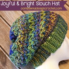 ~ A Slouch Hat for the Entire Family ~   This gorgeous slouch hat pattern is available in all sizes from preemie to adult. That makes it the perfect hat patt