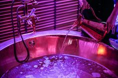 Copper Tub treatment at Myddfai Spa at Stradey Park Hotel, Llanelli, South Wales