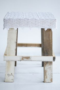 wood  wool stool gina by wood  wool stool, via Flickr, inspiration, birch logs for legs :0)