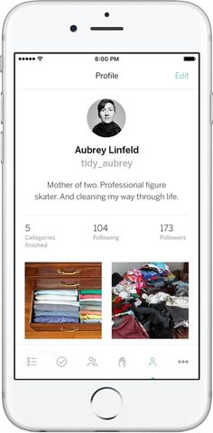 The free KonMari app for iOS makes it easy to keep track of your home's organizational needs