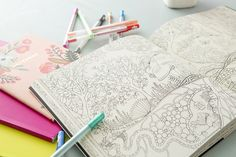 Johanna Basford Has More Adult Coloring Books Headed Your Way via Brit + Co.