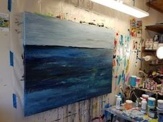 large abstract landscape :: process video :: canvas