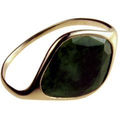 Maitea Flat Jade Ring ($1,040) ❤ liked on Polyvore featuring jewelry, rings, yellow, jade jewelry, thin rings, yellow jade jewelry, leaves jewelry and jade ring