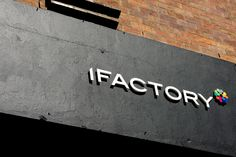 iFactory signage on the converted old ice cream factory. West End, Brisbane.