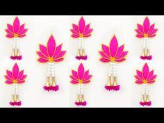 Ganpati Decoration At Home, Diwali Decorations At Home, Backdrop Decorations, Festival Decorations, Paper Decorations, Flower Decorations, Diy Crafts For Gifts, Craft Stick Crafts, Creative Crafts