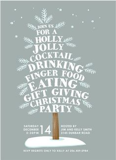 Holiday Party Invitation Design